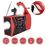 swonuk Radio Solaire Portable, Main Manivelle Self Powered AM/FM/NOAA Radio, Dynamo...