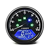 ANCLLO, odómetro Universal para Motocicleta, velocímetro Digital LCD, tacómetro, medidores con luz Nocturna, Aptos para la Motocicleta de 12 V más Popular