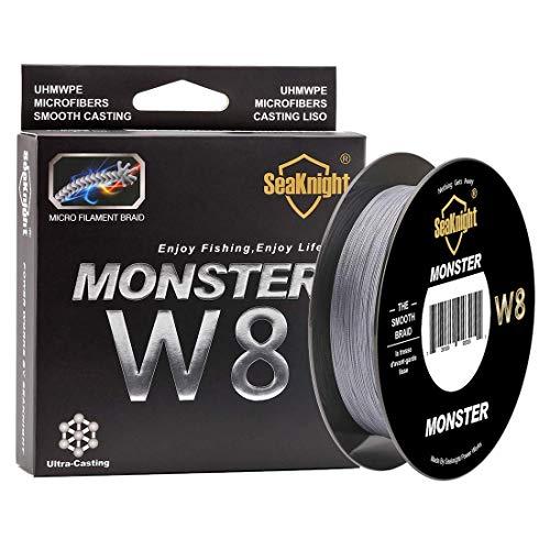 SeaKnight Monster Trenzado de Pescar W8/S9 Trenzado de 8/9 Hilos, 300/500 m, súper Suave, de Polietileno, Hilo Trenzado de multifilamentos para Pesca en mar, 6,8 kg - 45,4 kg