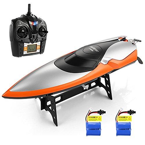 HELIFAR Ferngesteuertes Schwimmbad und Seen, 2,4 GHz, Geschwindigkeit, 20 MPH, 180 Grad drehbar, RC Rennboot für Erwachsene und Kinder, mit 2 Batterien*