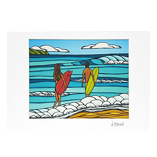 (ヘザーブラウン)HEATHER BROWN ART PRINT W35.0×H28.0cm LOVE AND SURF アートプリント ラブアンドサーフ Mサイズ横 サイン入り 絵画 HB9366P/LOVE AND SURF [並行輸入品]