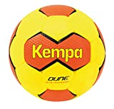 Kempa Dune Ballon de Handball Mixte Adulte, Jaune Fluo/Rougeshock, Taille 2