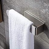 Toallero de mano autoadhesivo, acero inoxidable, sin perforaciones, para accesorios de baño y cocina, estilo minimalista...