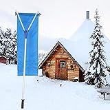 Sistema de eliminación de nieve en la azotea Sistema de eliminación de nieve en la azotea Rastrillo de techo de tela para quitar nieve, Sistema de eliminación de nieve en el techo Rastrillo de techo