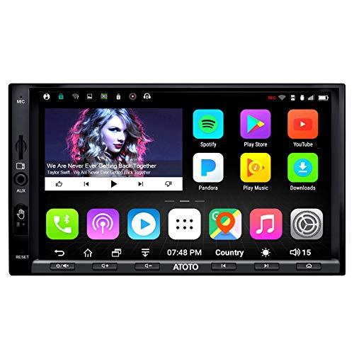 Navigazione multimediale Android Car ATOTO A6 con 2x Bluetooth e ricarica rapida per telefono -PRO A6Y2721PRB-G 2GB/32GB 2DIN In dash GPS, WiFi, operazione Gesture, supporto 256G SD e altro