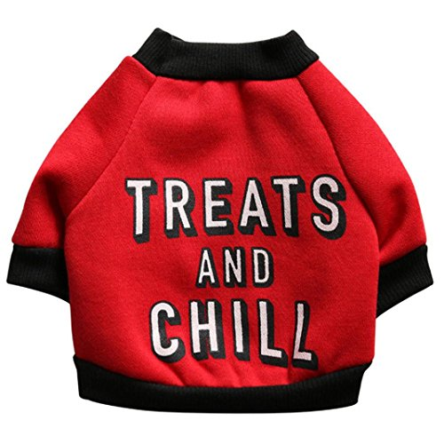 Wensltd Pet Dog Puppy Funny Letters Fleece Shirt Apparel Warm Sweater Clothes...
