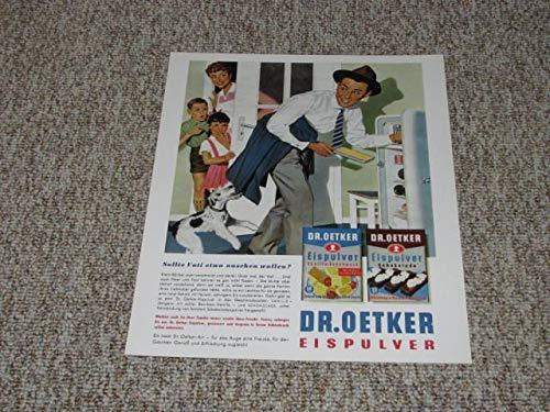 Werbedruck / Werbeblatt / Reklame Dr. Oetker Eispulver (Reprint)