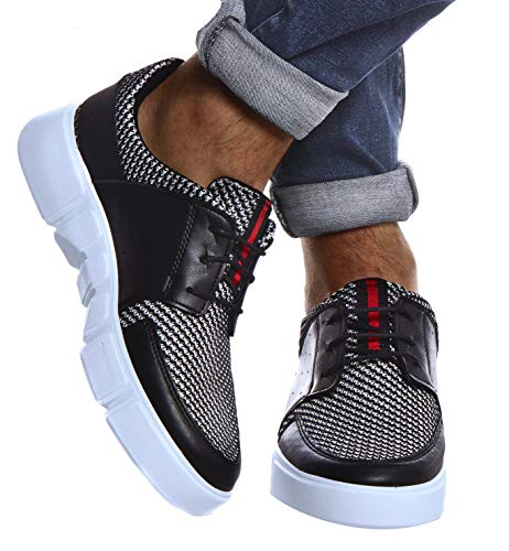 Leif Nelson Herren Schuhe für Freizeit Sport Freizeitschuhe Männer weiße Sneaker Sommer Coole Elegante Sommerschuhe Sportschuhe Weiße Schuhe für Jungen Winterschuhe Halbschuhe LN884Z; 40, Schwarz
