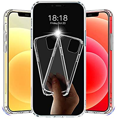 [2 Pack] CTYBB Compatible with iPhone 12 Case, Compatible with iPhone 12 Pro Case, 6.1 inch, Clear