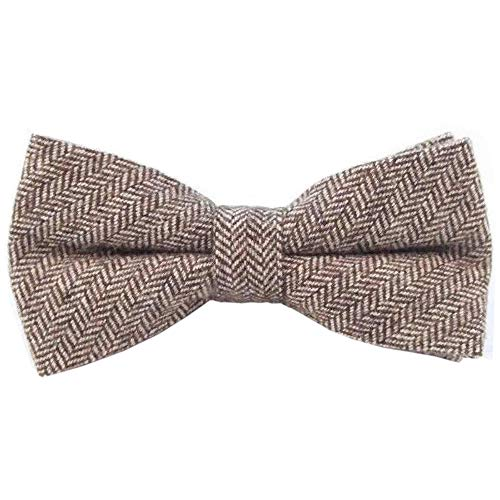 DB Dickie Bow - Nœud papillon - Homme Marron Vintage Brown Herringbone Taille Unique