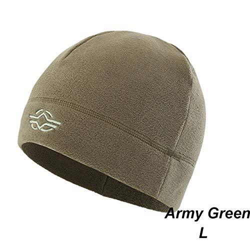 1 PC Unisex Warm Fleece Hüte Winter Herbst Classic Outdoor Windproof Wandern Angeln Radfahren Kappen- Green-L