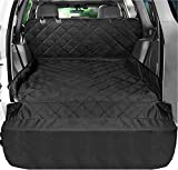 Fissnik SUV Cargo Liner for Dogs - Heavy Duty and Waterproof Material - NonSlip Car Trunk Mat Seat - Cargo Cover the Side and Extra Flap Protector -Pet Cargo Liner for SUV Large Standard Universal fit