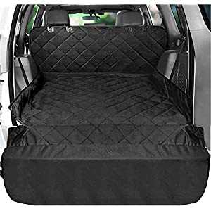 Fissnik SUV Cargo Liner for Dogs – Heavy Duty and Waterproof Material – NonSlip Car Trunk Mat Seat – Cargo Cover the Side and Extra Flap Protector -Pet Cargo Liner for SUV Large Standard Universal fit