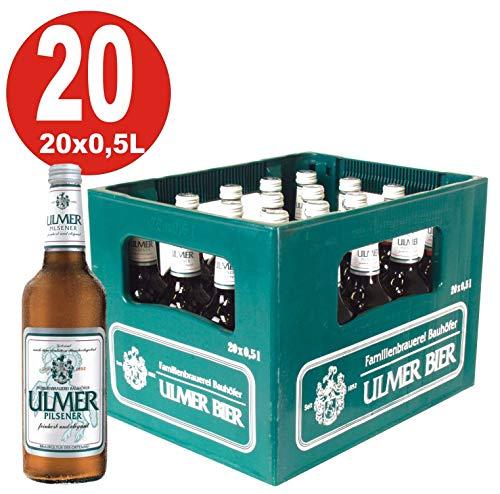 20 x Ulmer Pilsener 0,5 Liter 5,2% vol. Originalkiste MEHRWEG