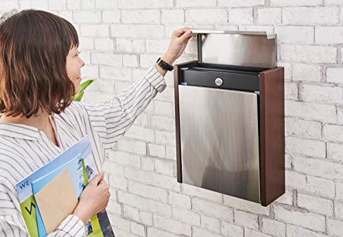 カバポスト郵便ポストクルミの自然木磁石閉でらくらく鍵付き壁掛け大型郵便受けA4