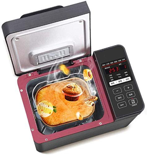 Macchina del pane in acciaio inox delle famiglie Toasters elettrico completamente automatico intelligente 22 Ore Programmi Programmi di ritardo 13 Timer Menu, 1 ora, tenere al caldo della macchina del