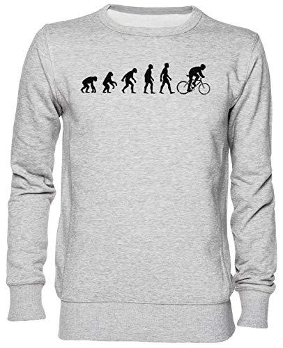 Capzy Evolución Bicicleta Sillín Gris Jersey Sudadera Unisexo Hombre Mujer Tamaño XL...