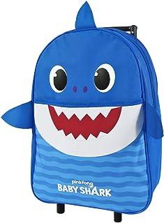 Baby Shark Mochila Infantil en Forma de Tiburòn con Ruedas - Equipaje de Mano Amarillo Azul Rosa para Jardin de Infantes -...
