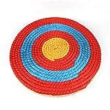 Paja Sólida Redondo Tarjeta De Tiro Con Arco De Tiro Cuerda De Color Cuerda Cara Face Tres Capa Para La Práctica De Tiro Objetivo de práctica para principiantes ( Color : Coloured , Size : 50x50x2cm )