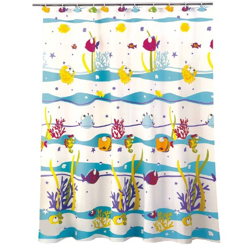Multicolored Pattern of Fish shower curtain