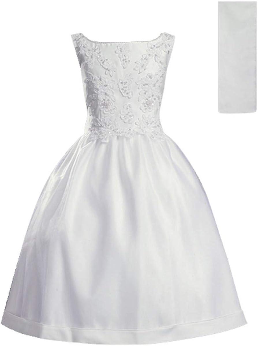 First Communion Dresses for Girls 7-16 Holy 1st Communion Dress White Plus Size Vestidos de Primera Comunion para Niñas