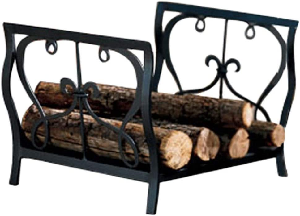 LLFF Firewood Holder Max 73% OFF Log Direct store Basket,for Handles with Steel Wood