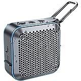 BT525BluetoothスピーカーIPX7防水・防塵サブウーファー高音質大音量TWS機能12時間連続再生バスルーム野外パーティー内蔵マイクAUXインターフェースUSB充電TFカードFMラジオポータブルミニハンズフリーコールキャラビナー1年保証(多言語対応) マニュアル(青)