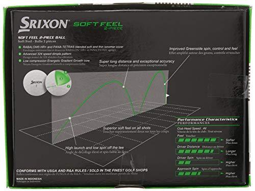 Srixon Men's Soft Feel Golf Ball (1-Dozen, Soft White)