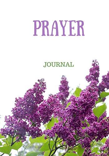 Prayer Journal: Women, Girls, Purple, Lavender, Flowers, Notebook With Prompts, 7x10 (Elite Prayer Journal)