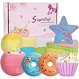 Supertrip Bombas de baño, 9PCS Set de regalo de bolas de baño hecho de aceites esenciales orgánicos naturales Regalos de San Valentín/Navidad/Cumpleaños para novias, madres, esposas, niñas