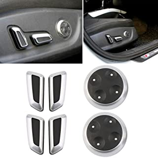 WANWU Chrome Seat Adjustment Switch Cover Trims FOR Audi A4 B8 Q5 Q3 A5 A6 VW Tiguan(black)