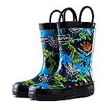 Toddler Rain Boots Boys Girls – CasaMiel Kids Rain Boots for Toddler Boys, Kiddo Waterproof Natural Rubber Rain Boots for Babies and Bigger Kids Children Water Boots Botas Para Niños