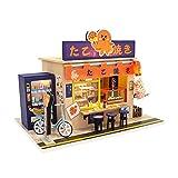 Createjia Dollhouse Miniature DIY Assembled Cabin, Japanese Style Dessert Shop Wooden Model, Creative Room Mini Doll House For Christmas Birthday Art Gift