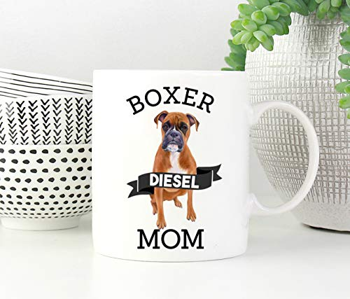 Boxer Mom Coffee Mug Dog Lover Gift Dog Mom Personalized Dog Mug Pet Gifts...