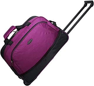 Polyester Travel Bag Large Capacity Waterproof And Wear-Resistant Portable Luggage Bag Lightweight Pulley Trolley Bag