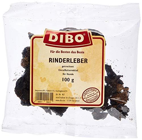 DIBO Rinderleber, 100g-Beutel, der kleine Naturkau-Snack oder Leckerli für Zwischendurch, Hundefutter, Qualitätskauartikel ohne Chemie von DIBO