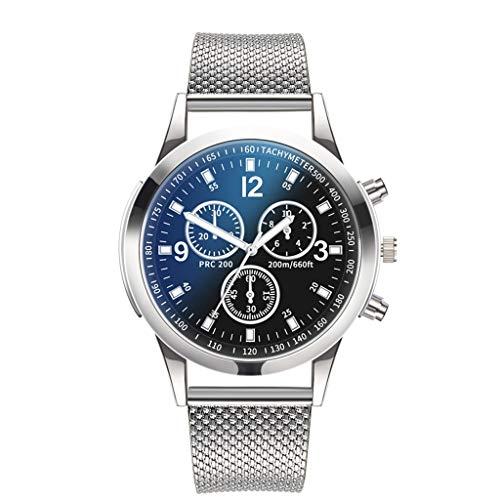 Moda Relojes Hombre Elegante 2020 Mejor Regalo,Moda Simple Malla De Acero Inoxidable Tres Ojos Seis Agujas Reloj De Cuarzo para Hombre