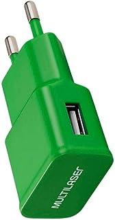 Carregador de Parede Smartogo Bivolt com Entrada Usb Verde Multilaser - Cb080V, SQUID8048
