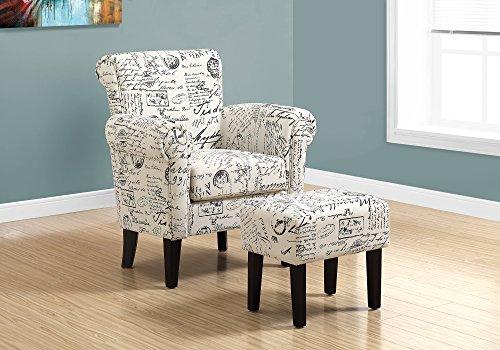 Monarch Specialties I 8175 Accent Chair, Beige, 33' L x 28.5' D x 35.5' H