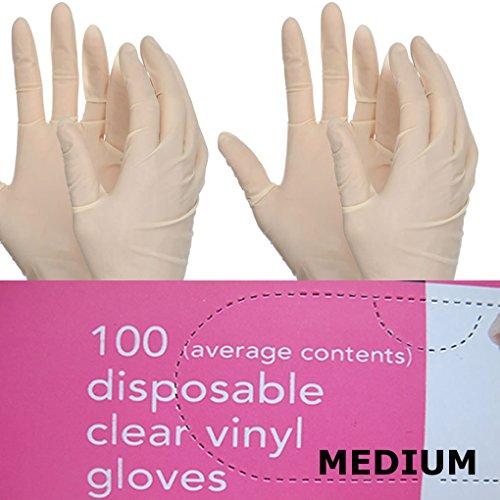 Chef der Speisekammer 100 Einweg Clear Vinyl Handschuhe Medium