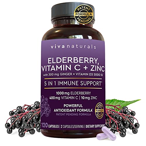 Viva Naturals Elderberry, Vitamin C, Zinc, Vitamin...