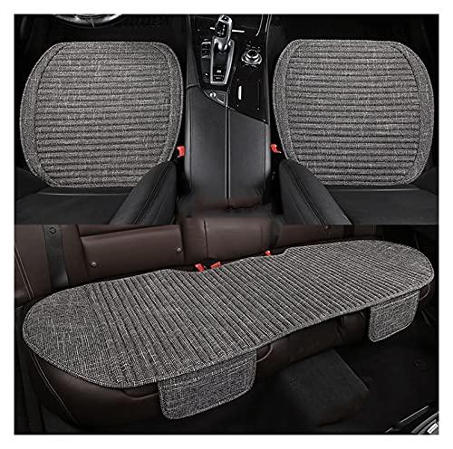 QSWL Funda de cojín para asiento de coche – Alfombrilla para envolver bordes – Suministros para auto – 2 fundas de asiento delantero y 1 trasero (color: gris, tamaño: 135 x 50 x 53 x 52 cm)