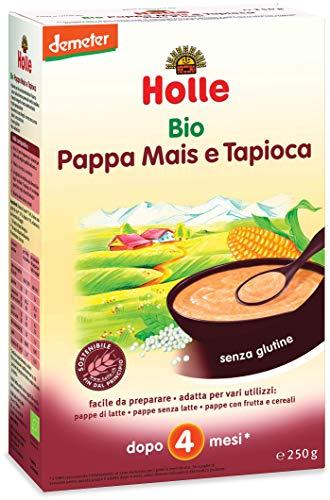 Holle Pappa Mais e Tapioca, 6 confezioni da 250 g