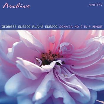 Georges Enesco Plays Enesco