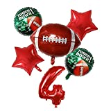 TAIYUAN Ballon SportsMeeting Garçons Rugby Balls Vert Football Football Football Ballons Vert Aluminium Rugby Party Décoration Sports Populaires Fête (Color : 4)