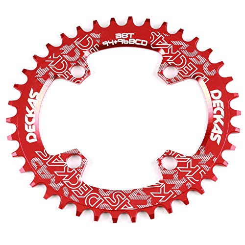 alsu3luy02Ld 32T/34T/36T/38T 94+96BCD Oval/Rund Fahrrad Kettenblatt für NX/GX M4000 M4050 - Rot 38T Ellipse