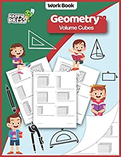 Geometry - Volume Cubes: Volume Cubes Practice Workbook With Solutions (Geometry Workbooks For Kids)