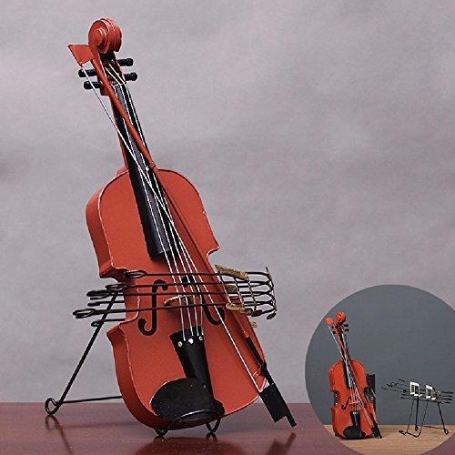 ZPSPZ Decoración para el Hogar Casa Mobiliario Tienda De Ropa Tin Modelo 19 * 6 * 52Cm Violín Adornos,De Gules