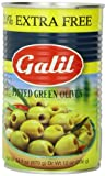 Galil Green Pitted Olive + 20% Extra Value Size, 24-Ounce Cans (Pack of 6)...