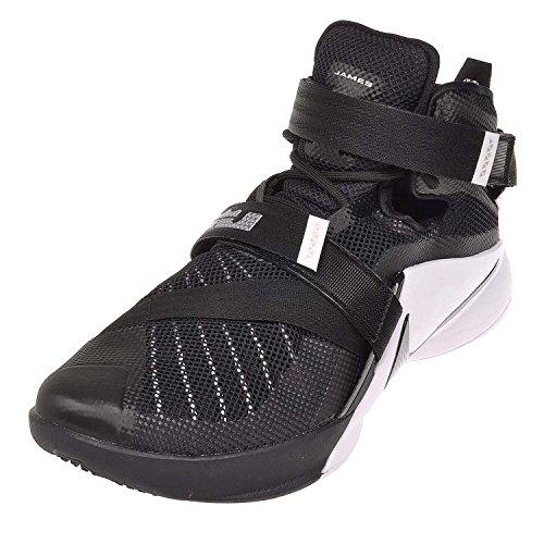 Nike Men's Lebron Soldier IX Team Basketball Shoe Black/White/Anthracite/Silver Size 9.5 M US